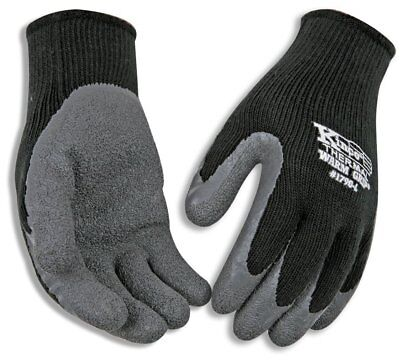 (Kinco 1790-M Warm Grip Latex Coated Gloves, Medium, Gray)