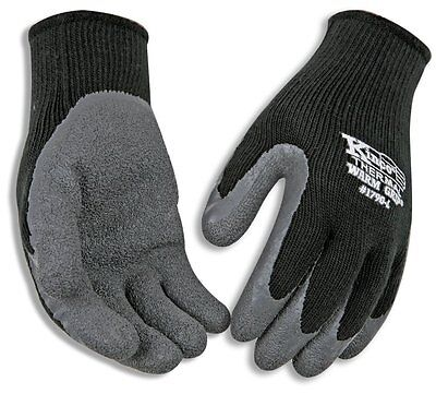 (Kinco 1790-L Warm Grip Latex Coated Gloves, Large, Gray)