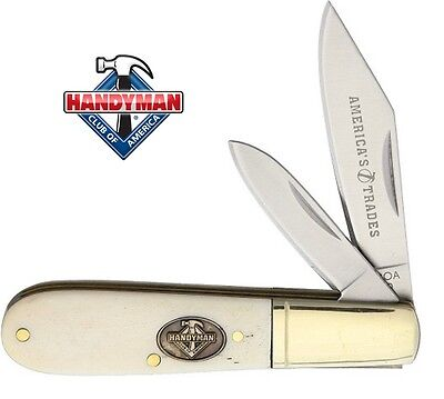 Barlow Two Blade Pocket Knife - Bone Handles - Handyman Club of America - D1554