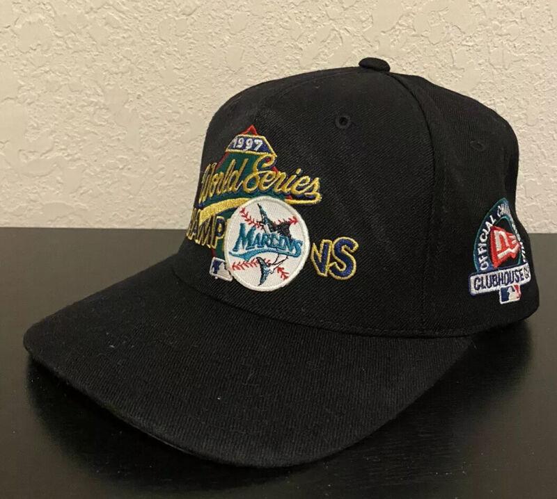 Vintage New Era 1997 MLB World Champions Florida Marlins Snapback Hat