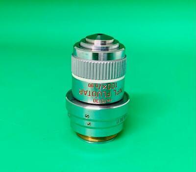 Leitz Npl Fluotar 100x0.90 Dry Microscope Objective Icr Pol Dic Prism 559245