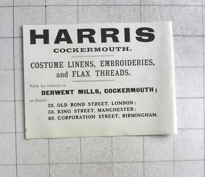 1905 Harris, Costume Linens, Embroidery, Derwent Mills, Cockermouth](Harris Costume)