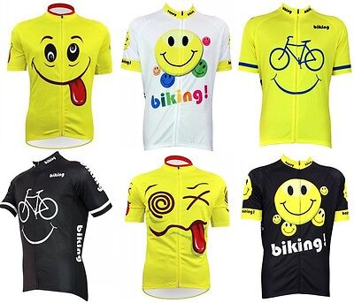 Funny Smiling Face Cycling Jersey Tops Breathable Cycling Clothing Bike Jersey  ()