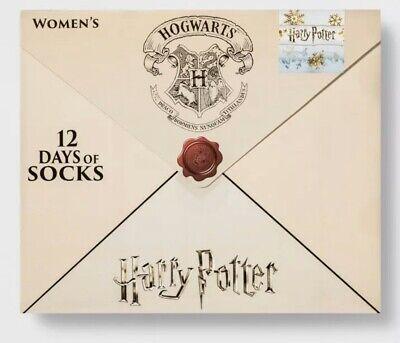 12 Days of Socks Harry Potter Hogwarts Advent Calendar Women's Socks Sz 4-10