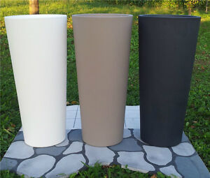 Vasi vaso resina tondo rotondo diametro 31 cm h 70 cm no plastica arredo design ebay - Vasi alti da giardino ...