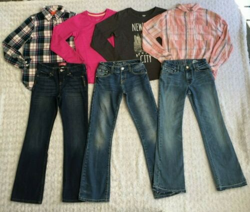 LOT of Girls Clothes-Boot Cut Jeans & Long Sleeve Tops-GAP, Old Navy (Size 10)