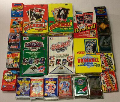 Four Sports BONUS Huge LOT Vintage 1000 Cards in UNOPENED packs 80/'s 90/'s