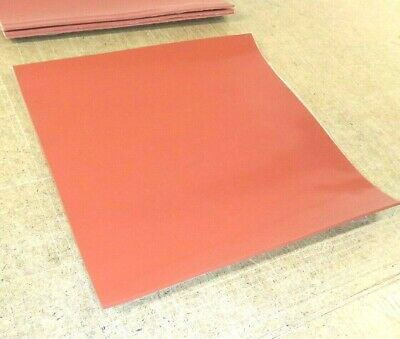 Silicone Rubber Sheet Us Hi-temp Red 116thk X 12 X 12 Square Pad 60d Med
