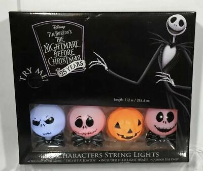 Nightmare Before Christmas Theme (DISNEY NIGHTMARE BEFORE CHRISTMAS CHARACTER STRING LIGHTS W/ THEME MUSIC -)