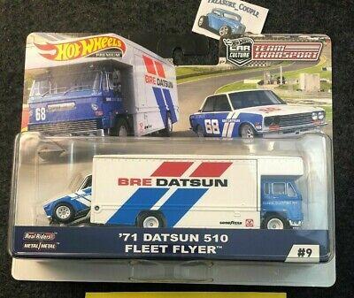 Hot Wheels - 2019 Car Culture Team Transport -  BRE '71 Datsun 510 Fleet Flyer