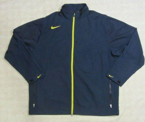 NWOT Nike Golf Full Zip Wind breaker Rain jacket Blue Mens XL