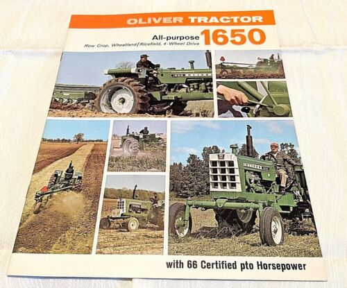 1969 Oliver All Purpose 1650 Tractor Sales Brochure