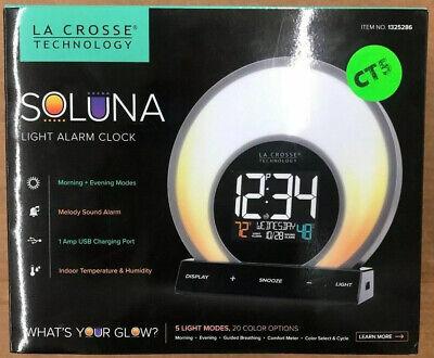 La Crosse Technology Soluna Light Alarm Clock 5 light modes
