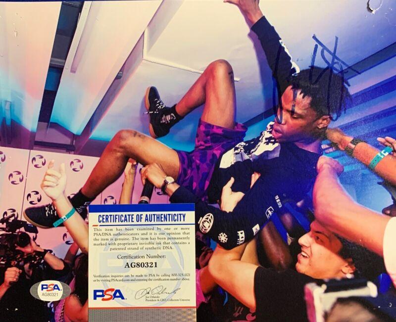 Travis Scott Signed 8x10 Photo PSA/DNA COA Astroworld Rapper RARE
