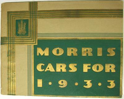 MORRIS for 1933 Range Original Car Sales Brochures 1932 #16587-7/32/50m