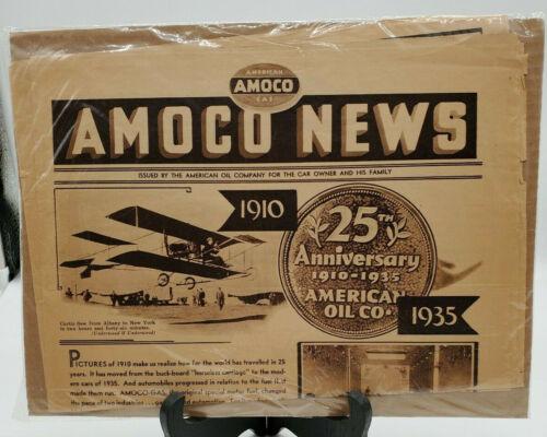 Vintage Amoco Newspaper 1935 OIL GAS