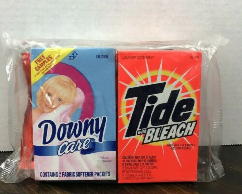 Vintage Tide With Bleach Downy Care Sample Pack 1998 98 NIB NOS Fast Shipping