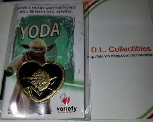 Disney Star Wars variety charity heart gold tone Yoda Pin