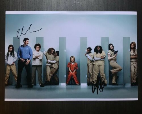 * ORANGE IS THE NEW BLACK * signed 12x18 photo * DANIELLE BROOKS & SCHREIBER * 2