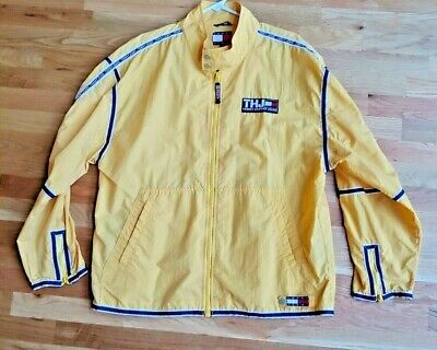 Vintage Tommy Hilfiger Yellow THJ Jacket Windbreaker 90s Men Size L/ Large