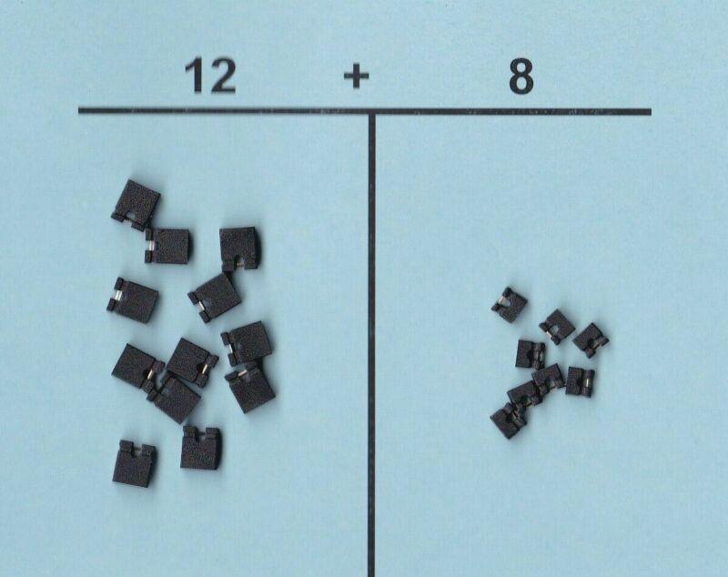 Mini Micro Shunt Jumper Caps Assorted For Motherboard Hard Disk Sata Ide Lot C20