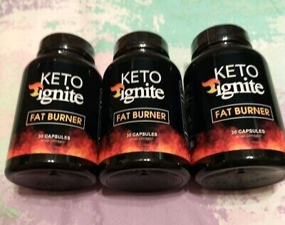 Keto Ignite fat burner/ 3 pack/30 capsules each  MFG date 02/2019