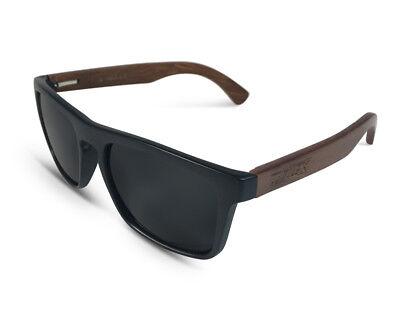 TWO-X Sonnenbrille Wood schwarz Wayfarer Look Holz Bamboo getönt polarisiert
