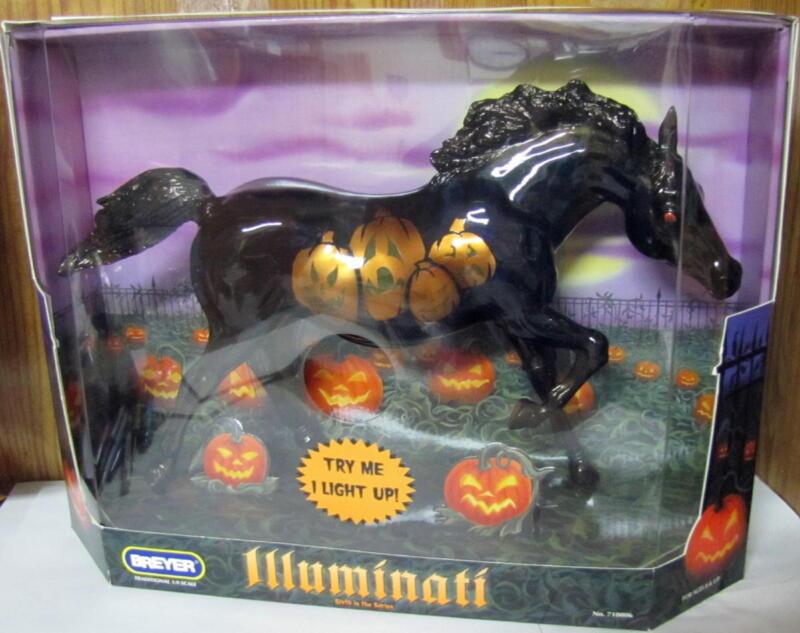 BREYER HALLOWEEN HORSE ILLUMINATI #710006  2005 MODEL (NEW IN BOX)
