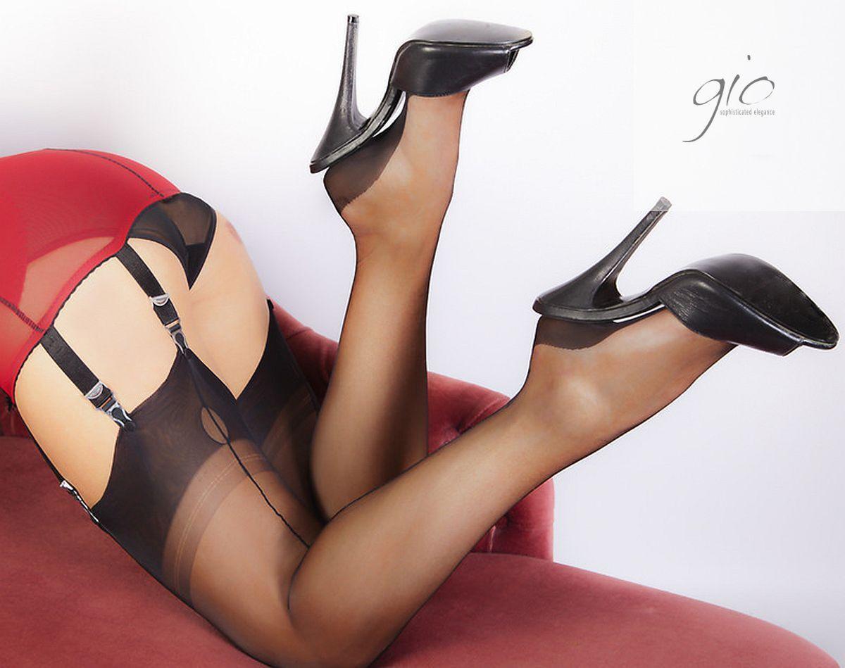 5c747f1ef5c Gio FF Cuban Heel Seamed Stockings Nylons Hosiery 8.5 S 12.5 XXL Perfects