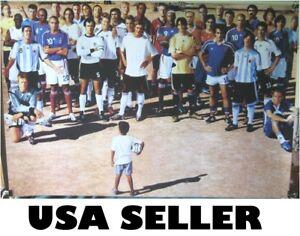 Zinedine Zidane soccer player group POSTER David Beckham Lionel Messi Adidas