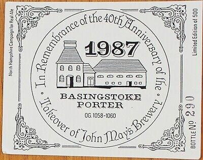 Pitfield Brewery Basingstoke Porter bottle label