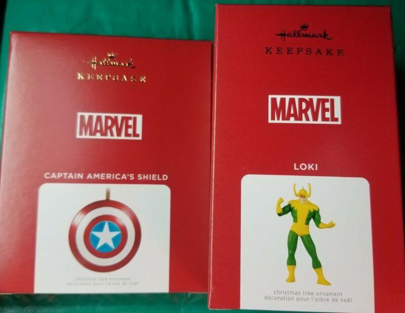2021 Hallmark Keepsake MARVEL Christmas ornaments - Captain America & Loki