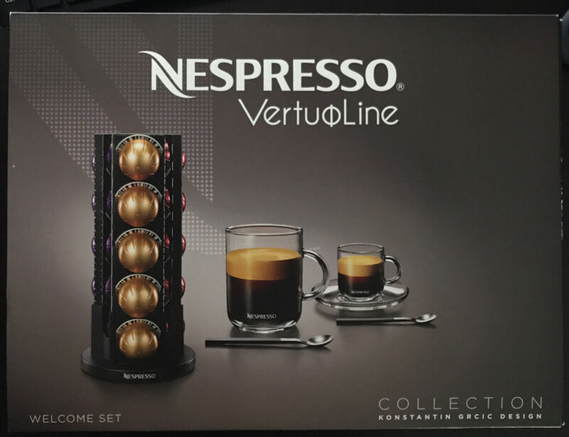 Nespresso Vertuoline Welcome Set Collection Konstantin Grcic FREE SHIPPING NIB!
