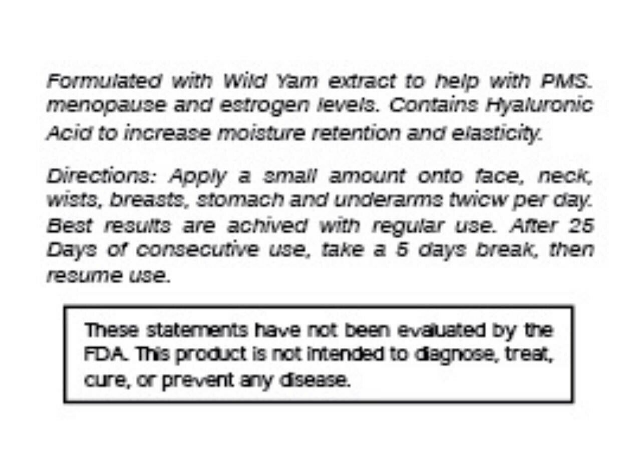 2 Natural Progesterone 1000mg Cream Xtra strength certificate Feminine Balance  4