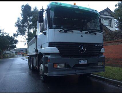 Actros tipper truck