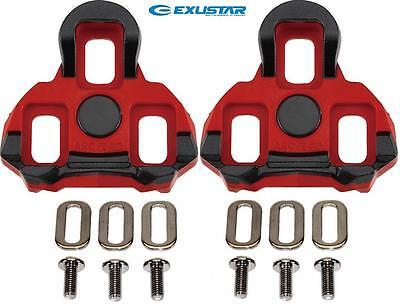 fc87c86fbc5 ExuStar Cleat set suit Garmin Vector   LOOK KEO Pedals RED 6-degree Float E- ARC