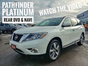 2015 Nissan Pathfinder Platinum Rear DVD Leather Sunroof  FRE...