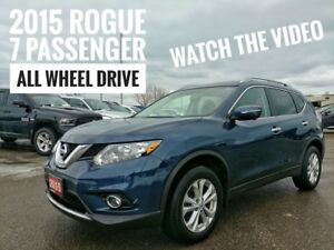 2015 Nissan Rogue SV Family Tech 7 Passenger  FREE Delivery
