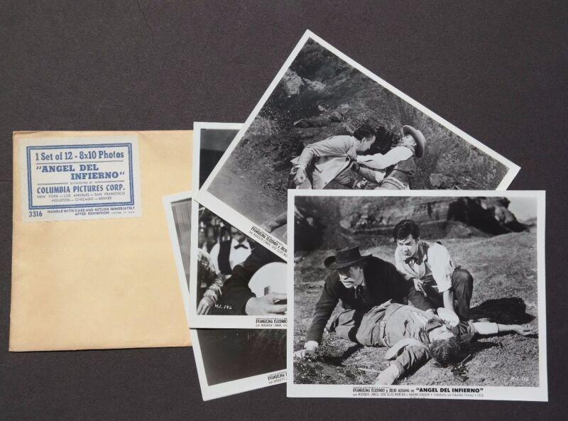 RARE Vtg 1959 Angel Del Infierno Movie Press Kit Photos (Evangelina Elizondo)