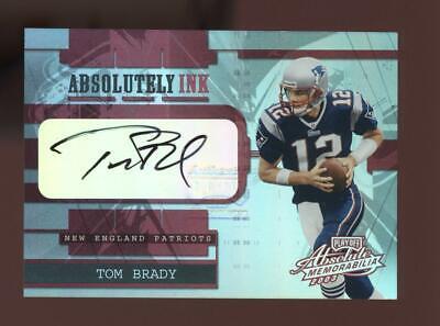 2003 Absolute Memorabilia Absolutly Ink Tom Brady 02/25 Auto Autograph