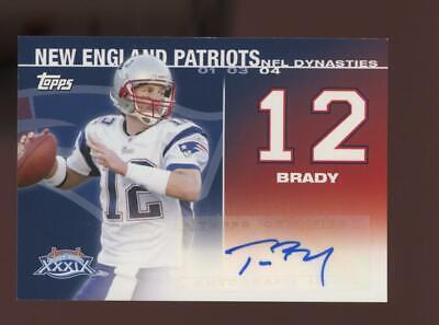 2008 Topps NFL Dynasty Super Bowl Tom Brady 10/25 Auto Autograph