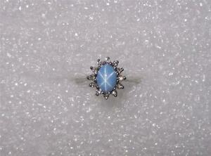 Sapphire And Diamond Ring Vintage