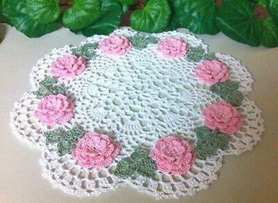 Custom Order Handmade Crochet Roses Doily! by leochic033