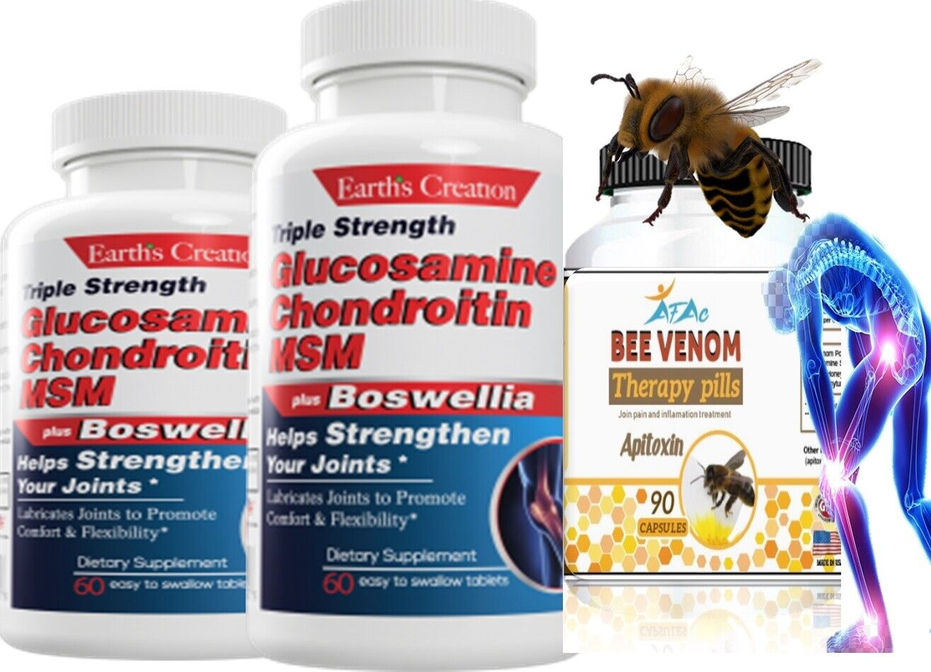 2 Glucosamine & Chondroitin MSM Bee Therapy Osteo Forte Miracle Joint Cartilage 6