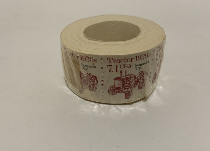 Tractor 1920s Stamp 7.1 USA  nonprofit.org Full Roll Sealed New Vintage Mint