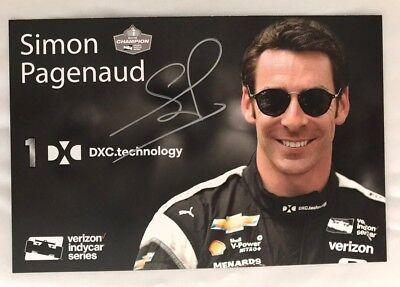 Simon Pagenaud Signed Indianapolis 500 Promo Card Indy Car 2018 Alternate Rare