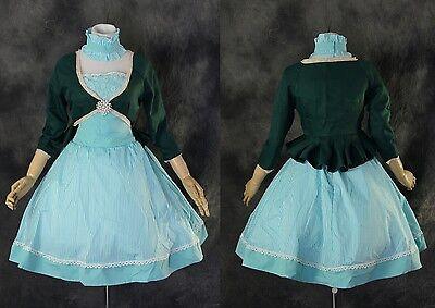 blau blue dress grün green Bolero Cosplay Kostüm Set costume (Green Dress Kostüm)