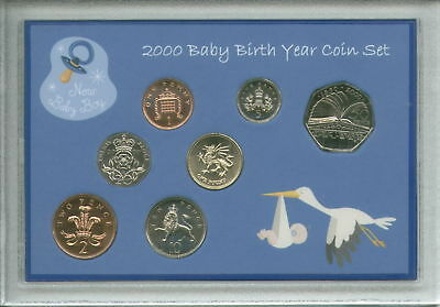 Newborn Gift Set Case - New Born Baby Boy Cased Coin BU Gift Set 2000 (Parent Mum Dad Keepsake Present)