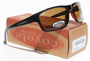 COYOTE BP-13 Bifocal +2.00 POLARIZED Sunglasses Sport Reading Black/Brown NEW