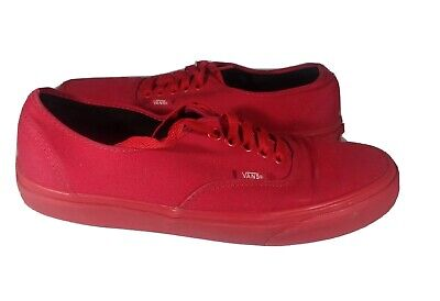 Vans Red Canvas Classic Lace Up Off The Wall Mens Size 8 women's 9.5